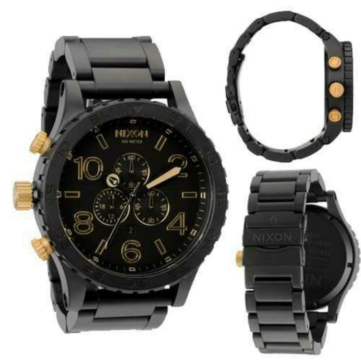 655b42f9cb3 relógio nixon preto dourado 51-30 chrono men´s frete gratis. Carregando  zoom.