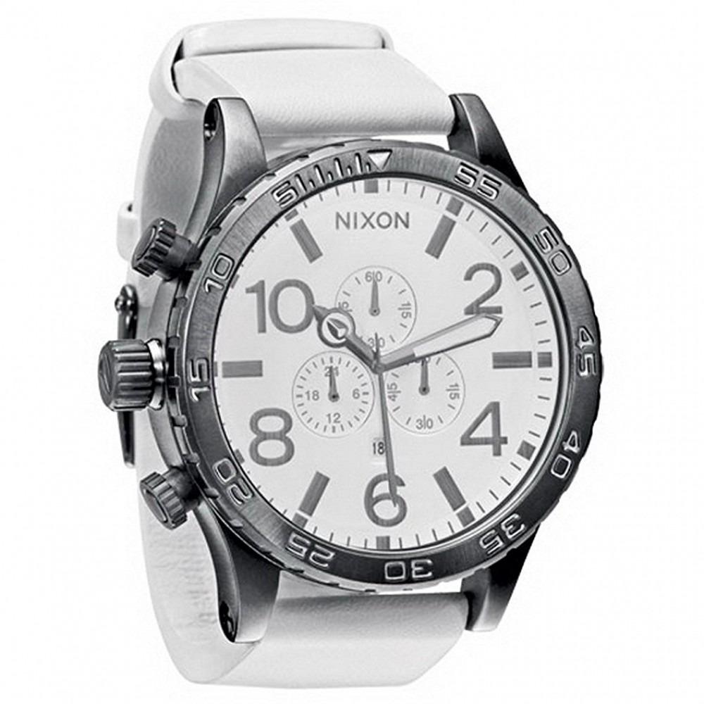 0bf183589a2 Relogio Nixon Pulseira Borracha Branco A124486 Original Nf - R  1.350