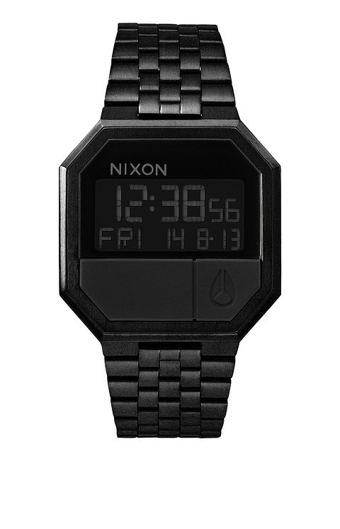 73f63613232 Relogio Nixon Re-run Metal A158 001 All Black - Original - R  799