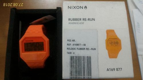 relógio nixon rubber re-run marmalade novo original