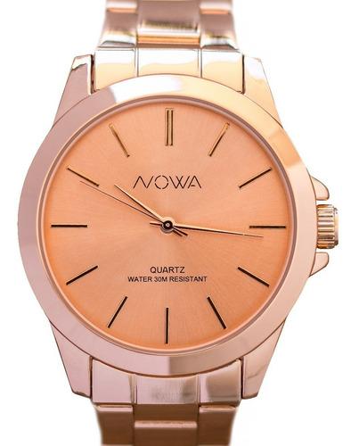 relógio nowa rose feminino rosa nw4027k original kit brinde