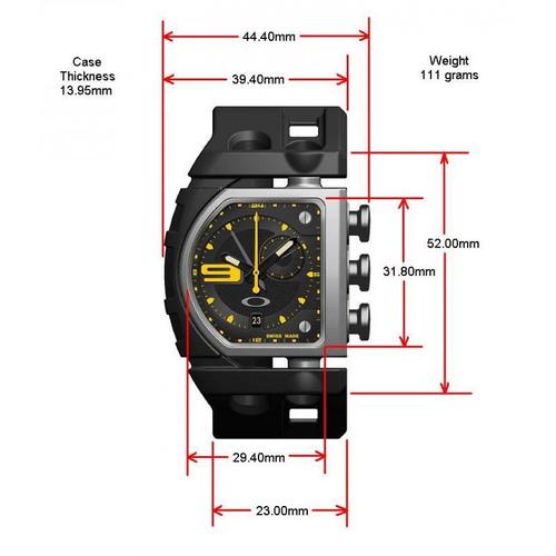 relogio oakley fuse yellow dial 26-302
