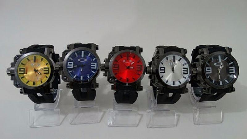 relógio oakley gearbox kit coleção 5 cores 5 unidades top. Carregando zoom. f076e3c1d24
