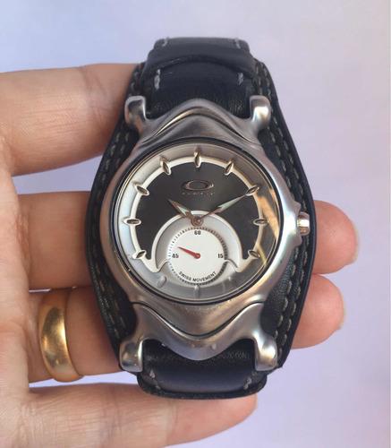 relógio oakley judge leather