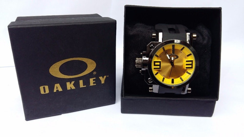 7152e126b5616 Kit C  3 Relogio Oakley Gearbox Titanium Masculino S  Caixa - R  225 ...
