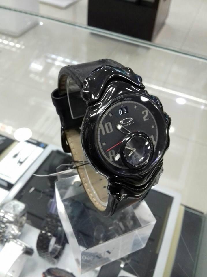 07f92c91925 Relógio Oakley Preto Couro Original - Fotos Reais Do Produto - R ...
