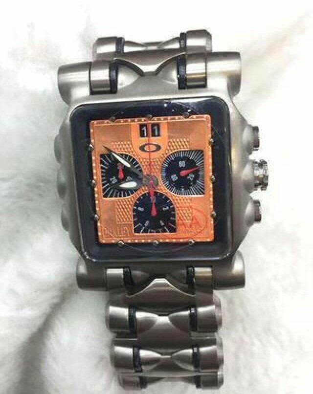 bf16711a736 relógio oakley tank minute machine titanium fundo laranja. Carregando zoom.