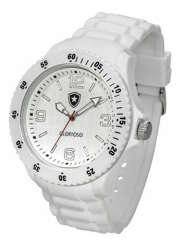 relógio oficial do botafogo glorioso - branco + chaveiro de