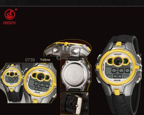 relógio ohsen original infantil modelo 0739 prova d'água