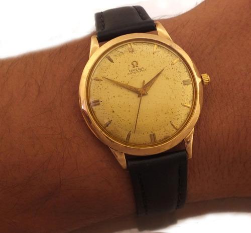 relógio omega automatic masculino em ouro rose 18k j10856