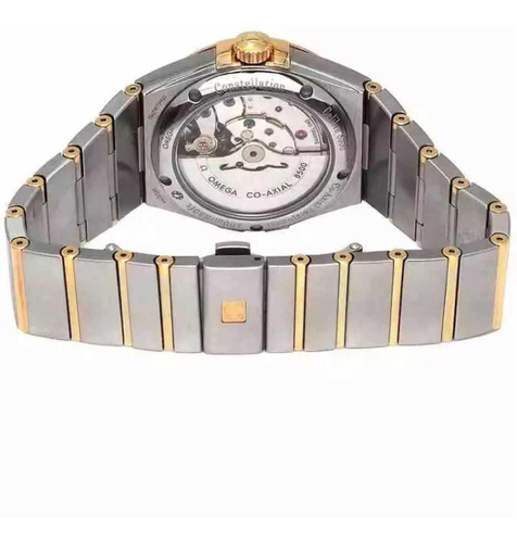 relógio omega constellation co-axial date two tone auto