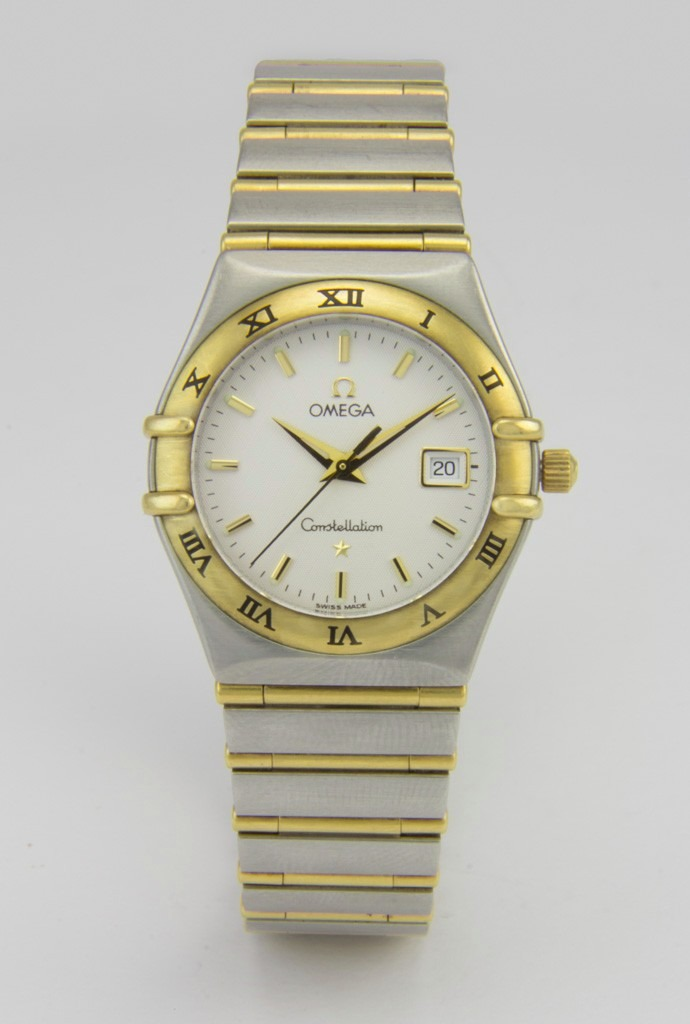 b5b4bfdd8d0 relógio omega constellation em aço e ouro 18k - feminino. Carregando zoom.