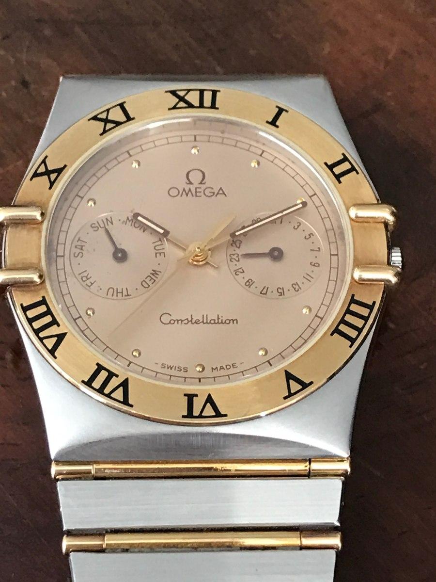 b8ea9960e1a relógio omega constellation em ouro e aço. Carregando zoom.