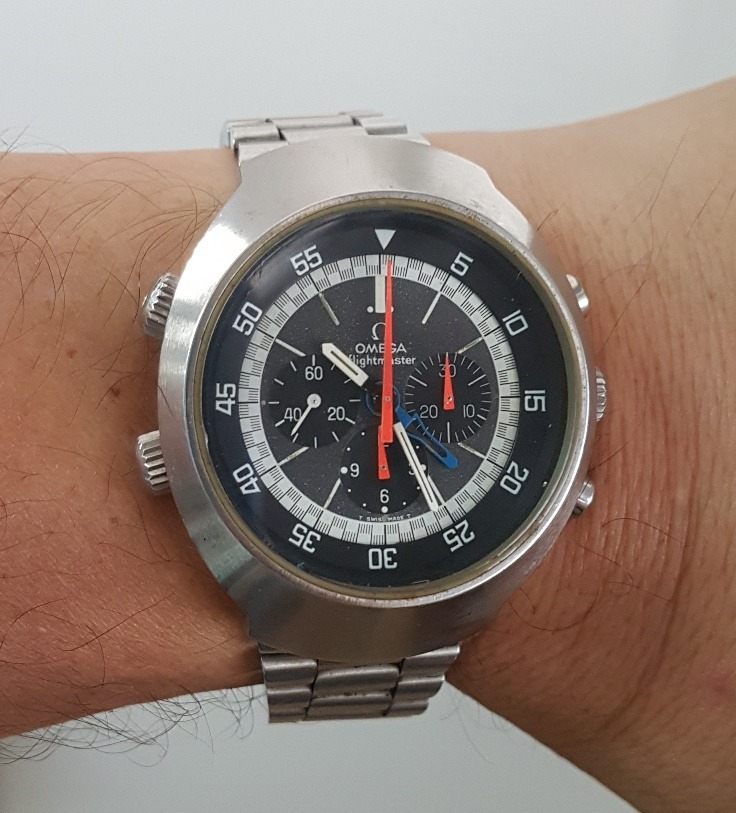 734b0745913 Relogio Omega Cronografo Flightmaster Vintage 2a Vers. 1971 - R ...
