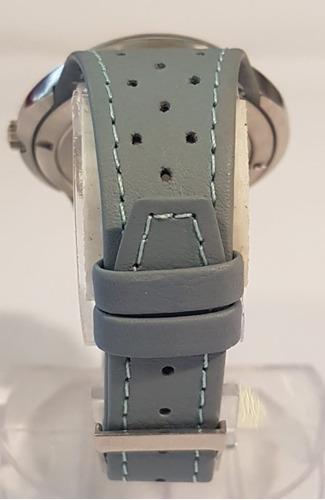 relogio omega dynamic azul e branco couro geneve  automatico