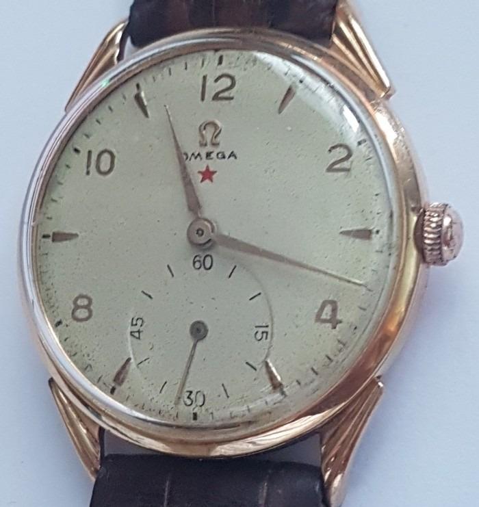 94631e57021 Relógio Omega Estrela Vermelha Em Ouro 18k Lindo E Grande - R  4.850 ...