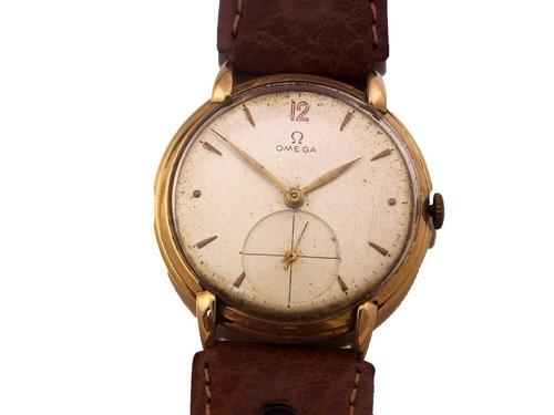 relógio omega ferradura masculino todo em ouro 18k j12625