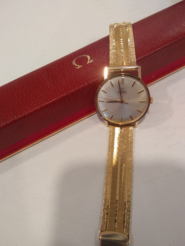 relógio omega original ouro 18k suíço eta automático cal 552