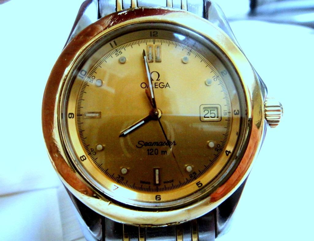3beab7ffe43 Relógio Omega Seamaster 120m Aro De Ouro
