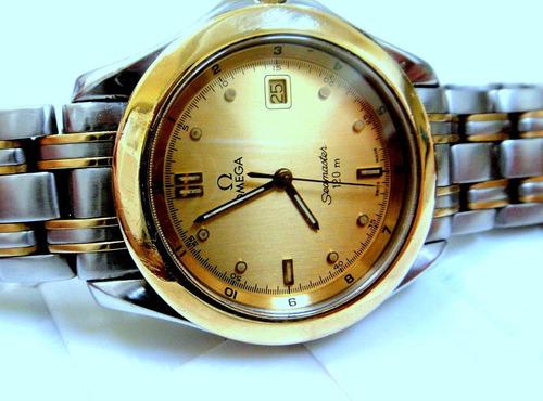 relógio omega seamaster 120m  aro de ouro,pulseira original