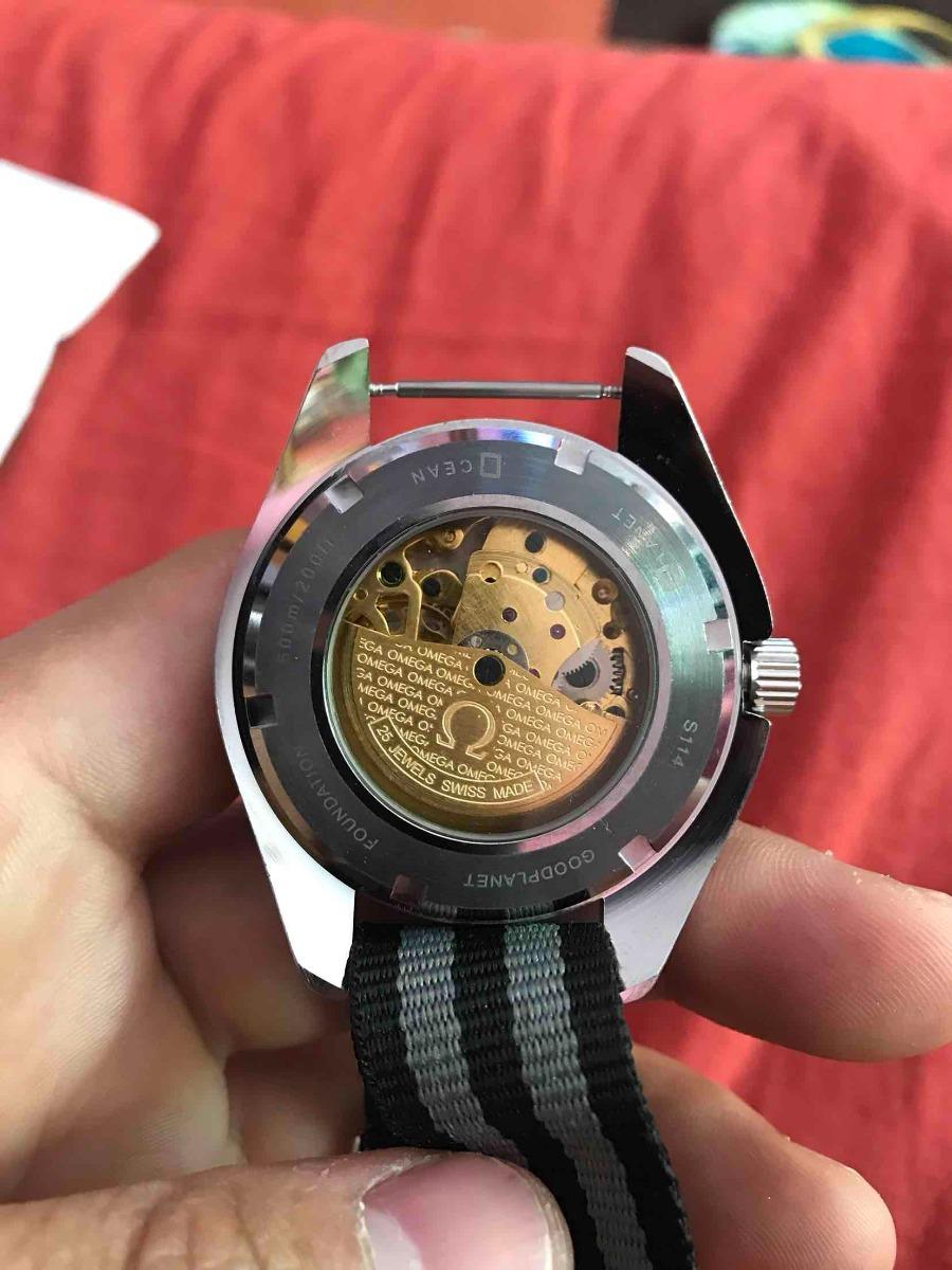 481127a7df9 relogio omega seamaster automático novo pulseira nylon. Carregando zoom.
