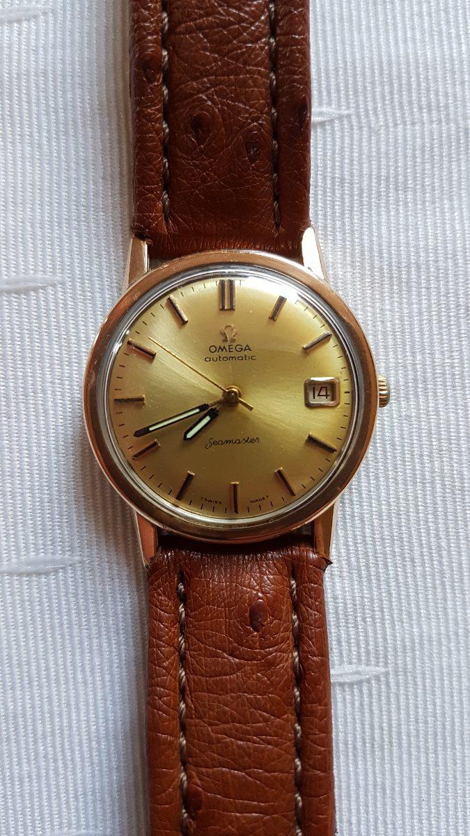 bc40b7f4378 relógio omega seamaster automático ouro e aço. Carregando zoom.