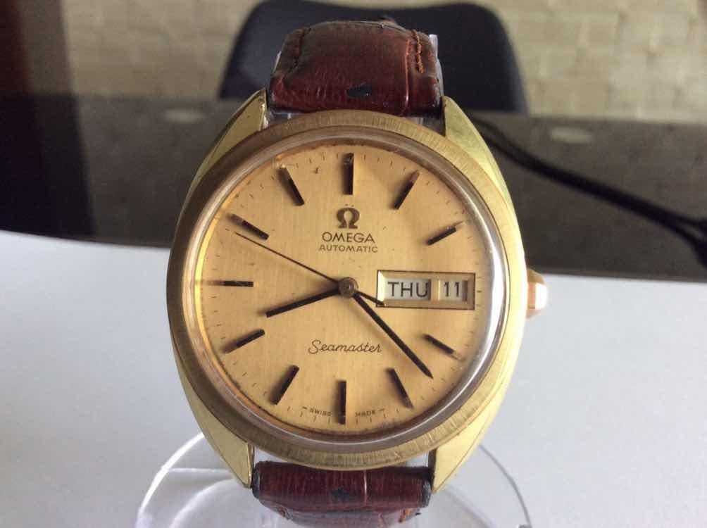 72601cff909 relógio omega seamaster automático vintage. Carregando zoom.