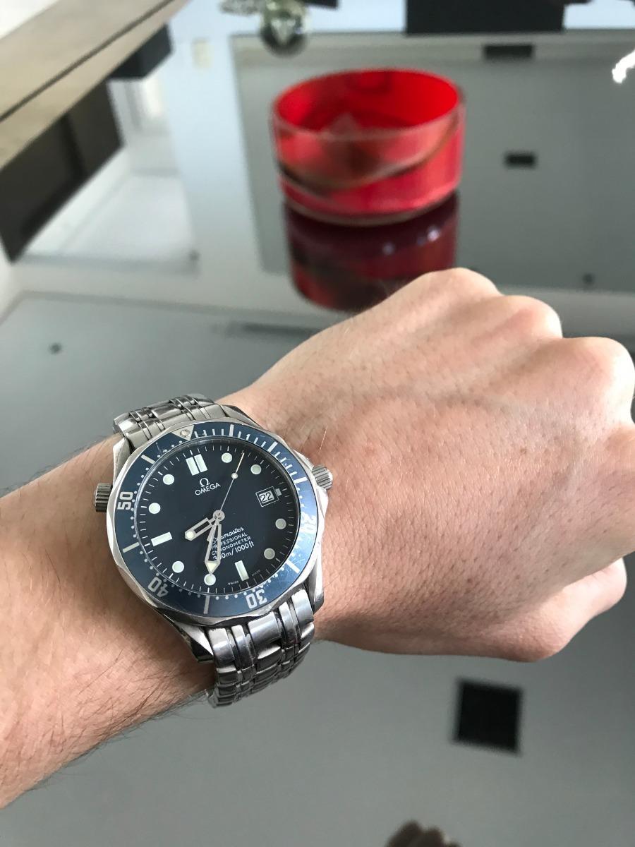 4cc0595bd91 relógio omega seamaster blue dial original. Carregando zoom.
