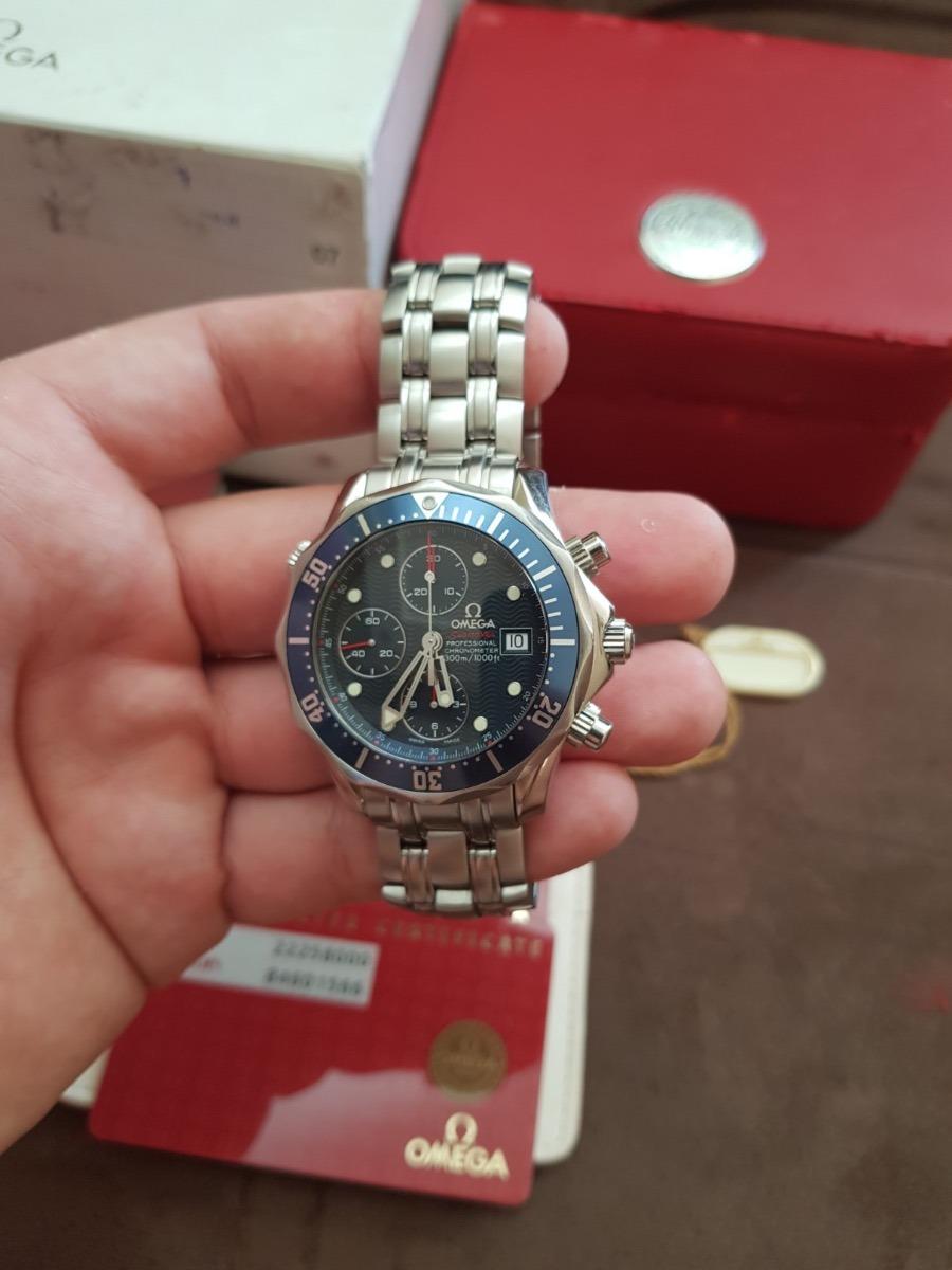 33cdd7643e0 relógio omega seamaster chronograph - modelo novo - bond. Carregando zoom.
