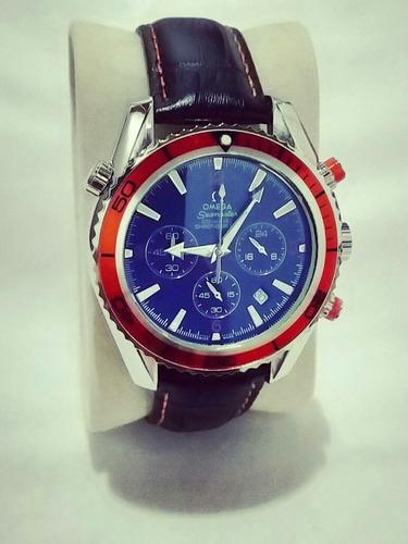 relógio omega seamaster ômega co-axial laranjado metal