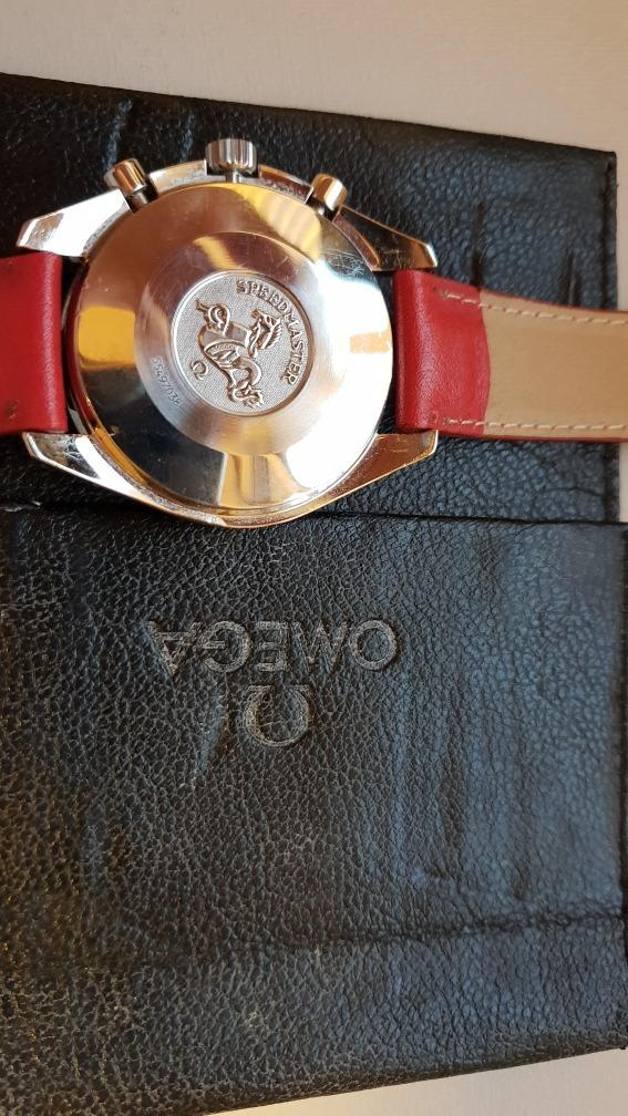 6c86457d3ee relógio omega speedmaster schumacher vermelho original. Carregando zoom.