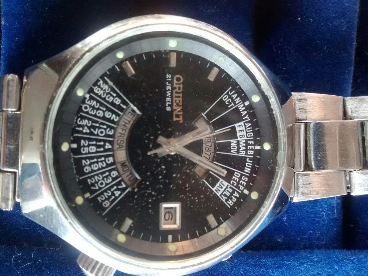 758bbe11535 relógio orient antigo automático e raro cavedar. Carregando zoom.