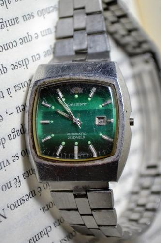 relógio orient automatic 21 jewels 497 - 3280 sem coroa