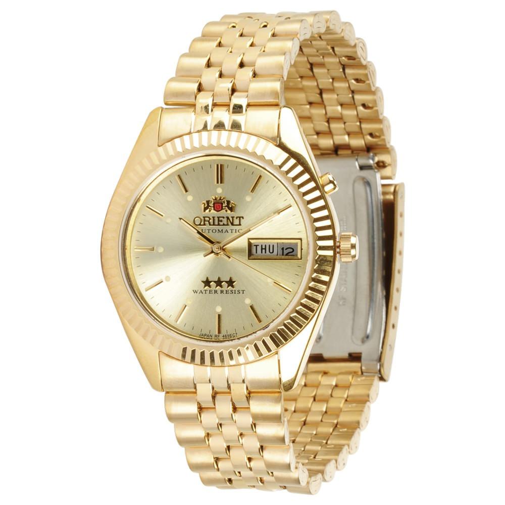 75aba37268f relógio orient automático 469ec7 dourado ouro meca luxo. Carregando zoom.