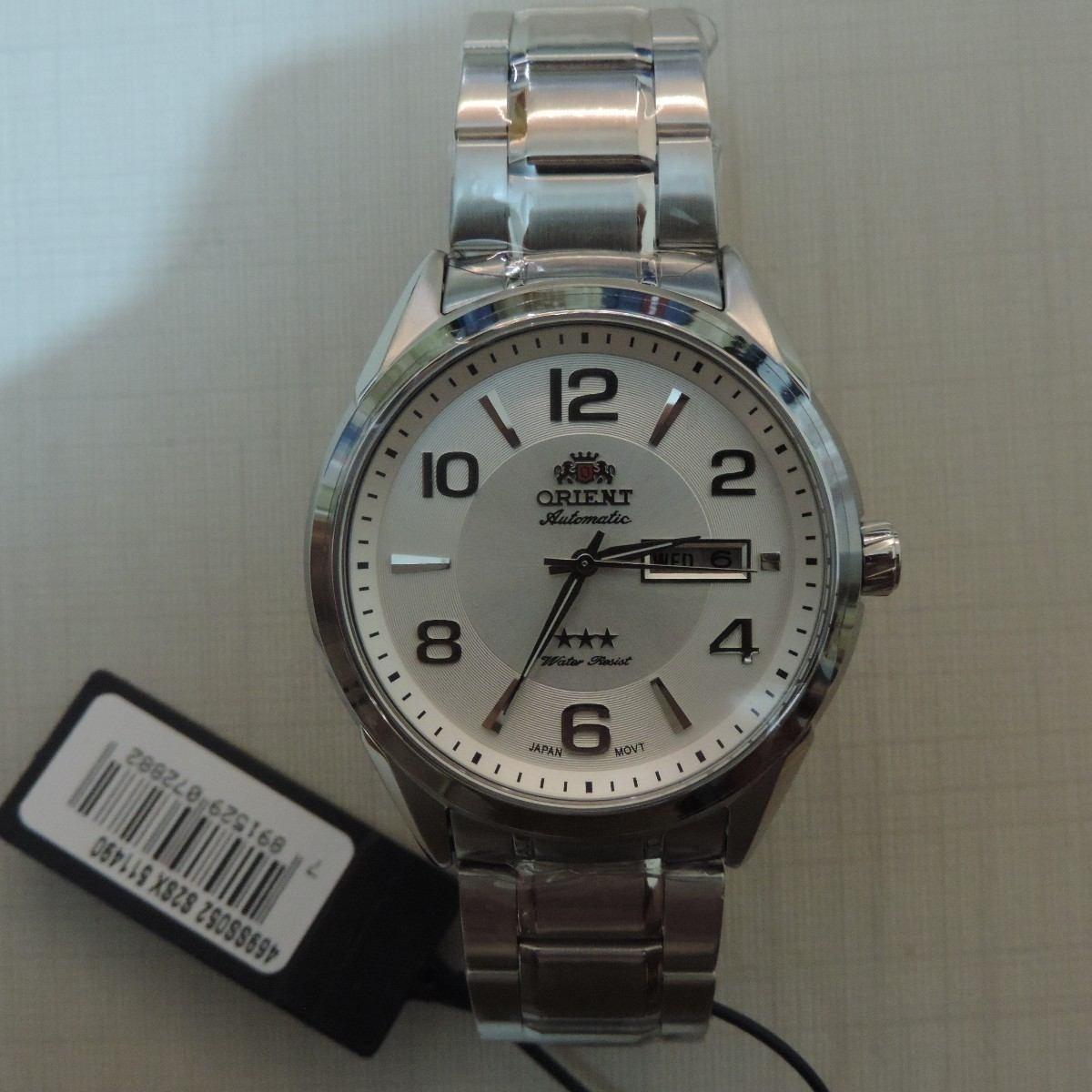 4b67ce3e7cf relógio orient automático 469ss052 masculino visor prata. Carregando zoom.
