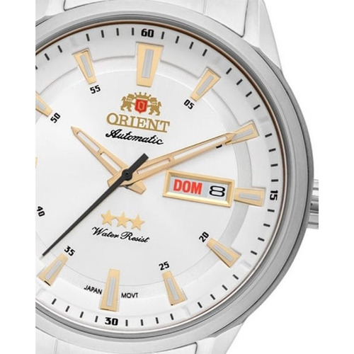 relógio orient automático 469ss065 visor prata lançamento