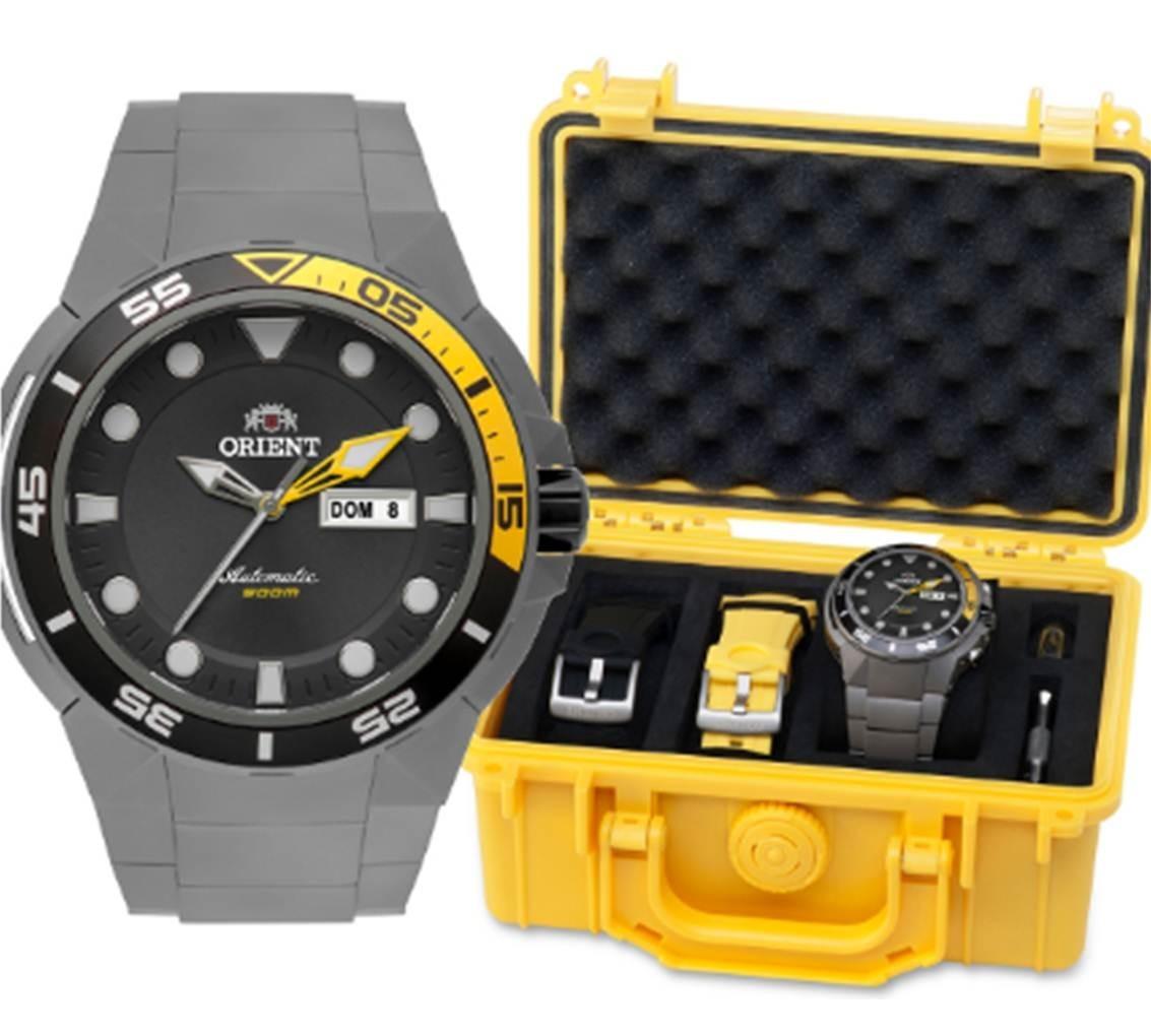 9b9ba0eb963 relógio orient automático 469ti003 g1gx seatech titanium. Carregando zoom.