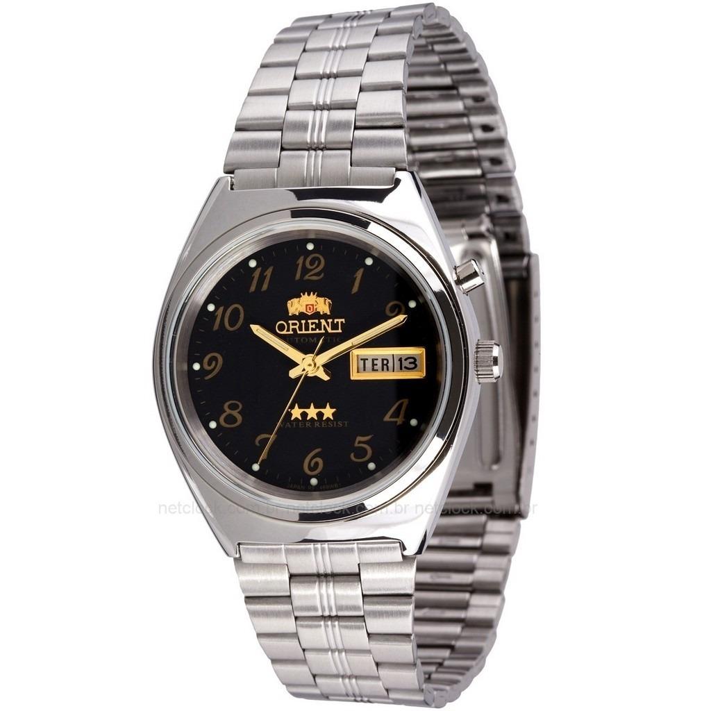 ec1b1adcfdb relógio orient automático 469wb1a masculino clássico preto. Carregando zoom.