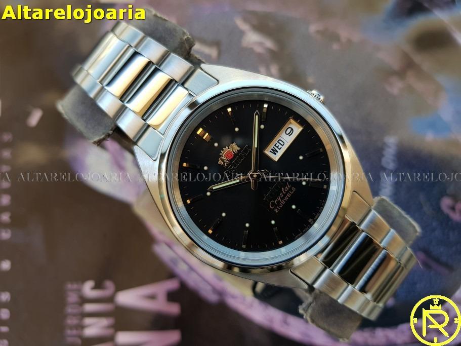 69414c58947 relógio orient automático clássico aço fab00005b9. Carregando zoom.
