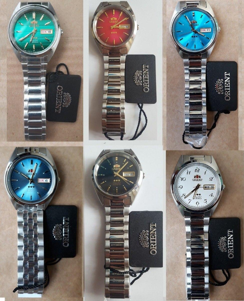 2600b275149 relógio orient automatico classico aço masculino. Carregando zoom.