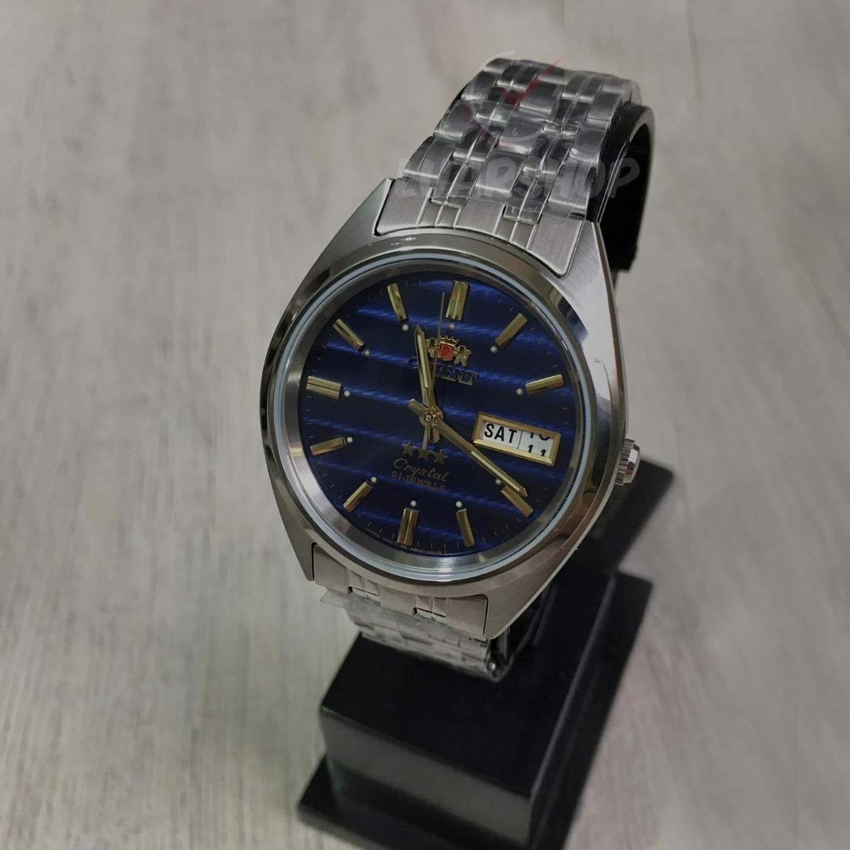 200ca8026b1 relógio orient automatico classico masculino   azul. Carregando zoom.