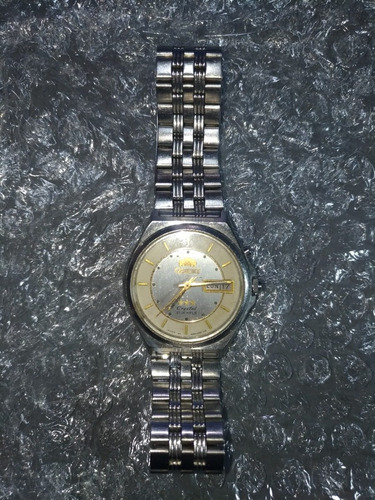 relogio orient automatico classico vintage crystal 21 jewels