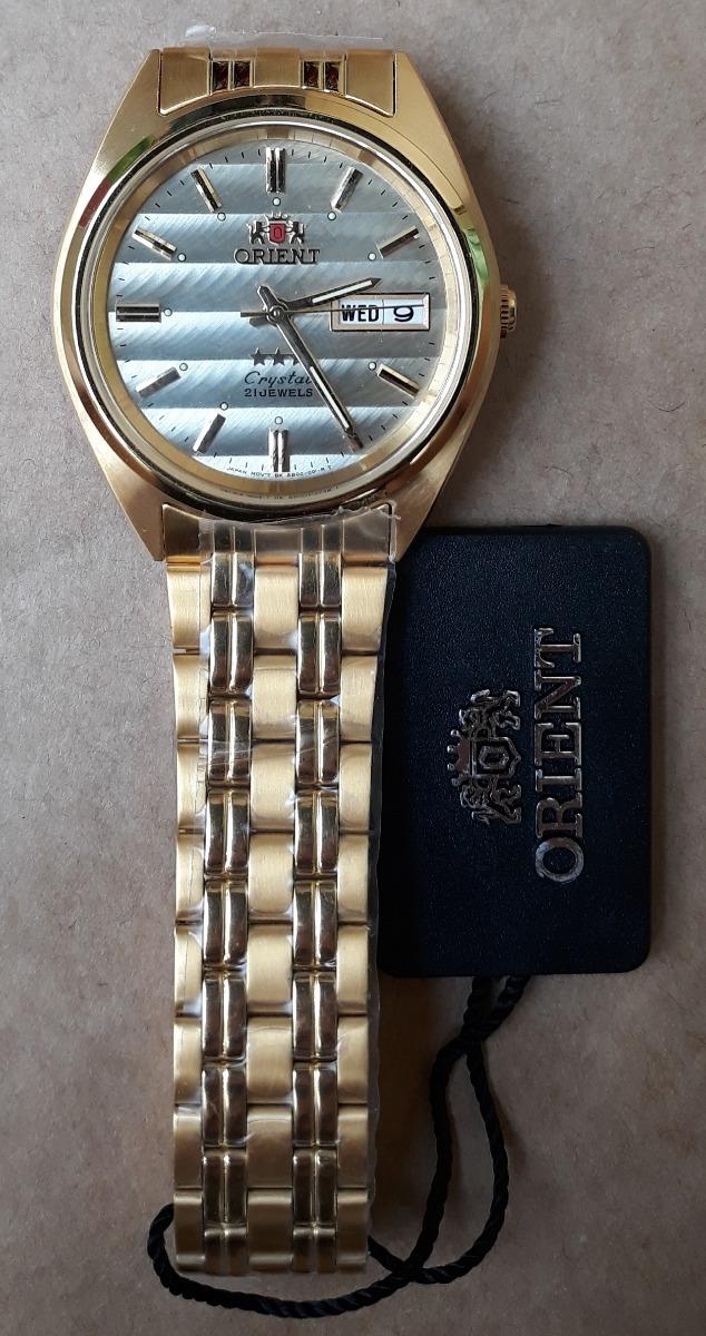 e4f51ab4847 relógio orient automático dourado masculino. Carregando zoom.