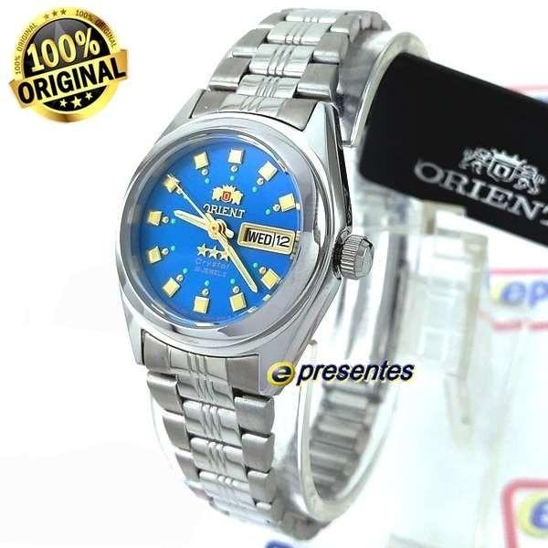 3a7a4545111 Relógio Orient Automatico Feminino Mini Azul 25mm Fnq1x003l9 - R ...