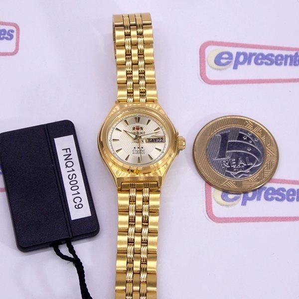 c2a5b86102d Relógio Orient Automatico Feminino Mini Dourado Fnq1s001c9 - R  484 ...