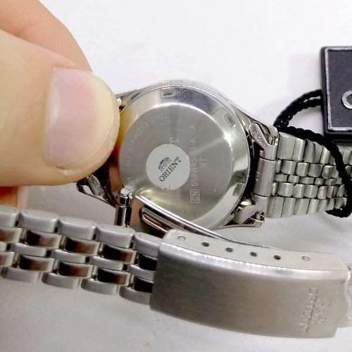 relógio orient automatico feminino mini prateado fnq04005f9