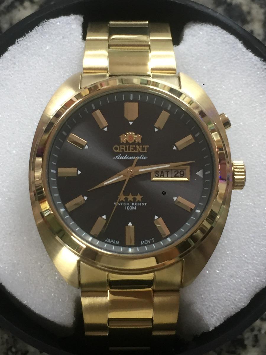 Relogio Orient Automatico Folheado A Ouro 3 Estrela - R  799,00 em ... dc2c523ffb