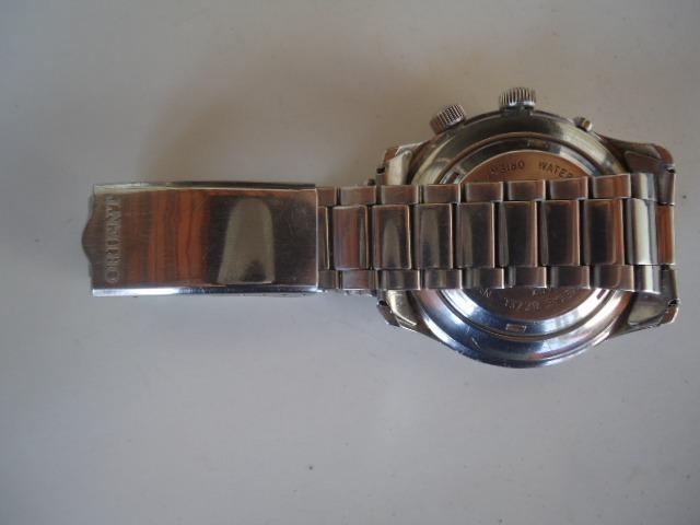 07b5774dcb5 Relógio Orient Automático Kd Antigo Raro 2 Janelas Verde - R  390