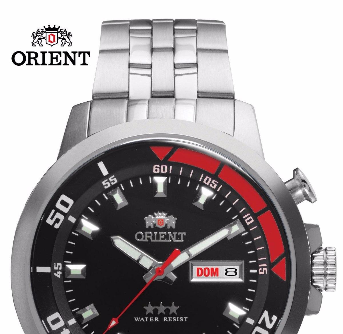 37aa149de14 relógio orient automático masculino aço 469ss058 p1sx 100mts. Carregando  zoom.