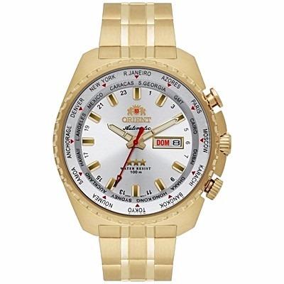 8386b910095 Relógio Orient Automático Masculino Dourado 469gp057 - R  698